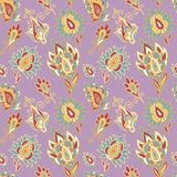Seamless oriental paisley pattern Royalty Free Stock Image