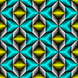 Seamless Oriental Pattern. Abstract Blue and Yellow Background Royalty Free Stock Images