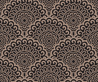 Seamless oriental pattern on a black background Stock Images