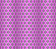 Seamless Oriental Pattern of Ovals of Geometric Shapes, Purple Color. Stock Photos