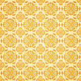 Seamless oriental style. Repeat with oriental-style flowers and geometric patterns of tiles (print, swatches, seamless background, wallpaper, or repeat mode Stock Photography