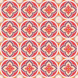 Seamless oriental style. Repeat with oriental-style flowers and geometric patterns of tiles (print, swatches, seamless background, wallpaper, or repeat mode Stock Image