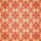 Seamless oriental style. Repeat with oriental-style flowers and geometric patterns of tiles (print, swatches, seamless background, wallpaper, or repeat mode Stock Photo