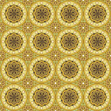Seamless oriental style. Repeat with oriental-style flowers and geometric patterns of tiles (print, swatches, seamless background, wallpaper, or repeat mode Stock Photos