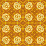 Seamless oriental style. Repeat with oriental-style flowers and geometric patterns of tiles (print, swatches, seamless background, wallpaper, or repeat mode Royalty Free Stock Photography