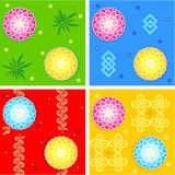 Seamless oriental style patterns Stock Images