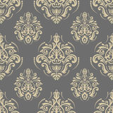 Seamless Oriental Vector Background. Oriental vector classic golden ornament. Seamless abstract pattern. Fine orient background for design and decorate Stock Images