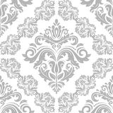 Seamless Oriental Vector Background. Oriental vector classic silver ornament. Seamless abstract pattern. Fine orient background for design and decorate Stock Photo