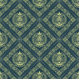Seamless oriental wallpaper4 Royalty Free Stock Images