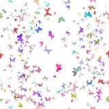 Seamless Origami Paper Butterflies Royalty Free Stock Images