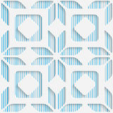 Seamless Origami Pattern. 3d Modern Lattice Background. Decorative Minimalistic Tile Wallpaper. Delicate Wrapping Paper Design Royalty Free Stock Images
