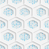 Seamless Origami Pattern. 3d Modern Lattice Background. Decorative Minimalistic Tile Wallpaper. Delicate Wrapping Paper Design Royalty Free Stock Image