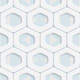 Seamless Origami Pattern. 3d Modern Lattice Background. Decorative Minimalistic Tile Wallpaper. Delicate Wrapping Paper Design Stock Photo