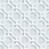 Seamless Origami Pattern. 3d Modern Lattice Background. Decorative Minimalistic Tile Wallpaper. Delicate Wrapping Paper Design Royalty Free Stock Photos
