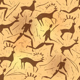 Seamless ornament African petroglyphic art old Stock Photo
