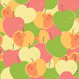 Seamless ornament with apples. Eps 8 Royalty Free Stock Photo
