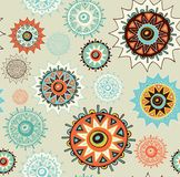 Seamless ornament background with colorful circles Royalty Free Stock Image