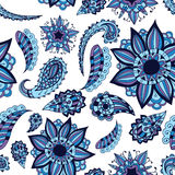 Seamless ornament. Beautiful doodle. Design elements for design of printed products, web or print design for clothing  Royalty Free Stock Photo