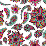 Seamless ornament. Beautiful doodle. Design elements for design of printed products, web or print design for clothing  Royalty Free Stock Image
