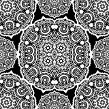 Seamless ornament on black background. Vector illustration Royalty Free Stock Photos