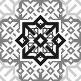 Seamless Ornament Black and White Repetitive Pattern Tile Texture Transparent Background. stock illustration