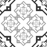 Seamless Ornament Black and White Repetitive Pattern Tile Texture Transparent Background. royalty free illustration
