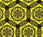 Seamless ornament black and yellow Stock Image