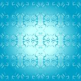 Seamless ornament blue decorative background patte Stock Image