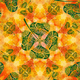 Seamless Ornament, Clover and Watercolor Royalty Free Stock Photo
