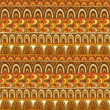 Seamless ornament from color circles geometric elements Royalty Free Stock Photography