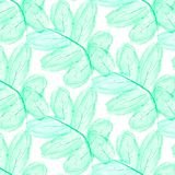 Seamless ornament with exotic leaves abstract background. Fabric texture Wallpaper stock illustration