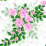 Seamless ornament with exotic leaves flowers abstract background. Fabric texture Wallpaper vector illustration