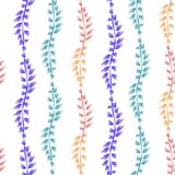 Seamless ornament with exotic leaves flowers abstract background. Fabric texture Wallpaper royalty free illustration