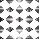 Seamless ornament figure from circles grey and black Stock Photo