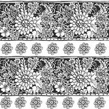 Seamless ornament from flower elements in ethnic style Stock Images