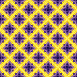 Seamless ornament geometrical pattern in yellow an voilet colors Royalty Free Stock Photography