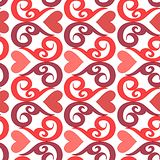 Seamless ornament love pattern. Seamless valentine  pattern with ornaments and hearts Stock Photography