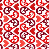 Seamless ornament love pattern. Seamless valentine  pattern with ornaments and hearts Stock Photo