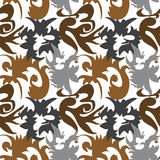 Seamless ornament pattern. Seamless brown ornament vector pattern Stock Image