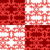 Seamless ornament pattern. Seamless red ornament vector pattern Royalty Free Stock Image