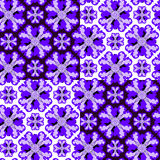 Seamless ornament pattern. Seamless violet ornament vector pattern Royalty Free Stock Images