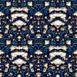 Seamless ornament pattern in abstract style. Seamless abstract pattern in beige and blue tones royalty free illustration