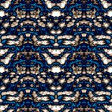 Seamless ornament pattern in abstract style. Seamless abstract pattern in beige and blue tones stock illustration