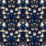 Seamless ornament pattern in abstract style. Seamless abstract pattern in beige and blue tones vector illustration