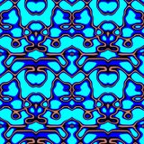 Seamless ornament pattern in abstract style. Seamless abstract pattern in blue and beige tones stock illustration