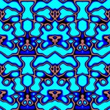 Seamless ornament pattern in abstract style. Seamless abstract pattern in blue and beige tones vector illustration