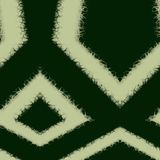 Seamless ornament  pattern in abstract style. Seamless abstract pattern in dark green and beige tones Royalty Free Stock Photo