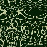 Seamless ornament  pattern in abstract style. Seamless abstract pattern in dark green and beige tones Stock Photos
