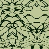 Seamless ornament  pattern in abstract style. Seamless abstract pattern in dark green and beige tones Royalty Free Stock Photography