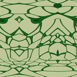 Seamless ornament  pattern in abstract style. Seamless abstract pattern in dark green and beige tones Royalty Free Stock Image